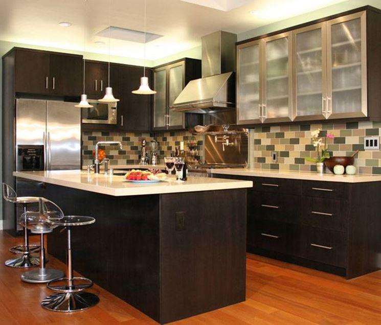 Кухня студия интересное решение