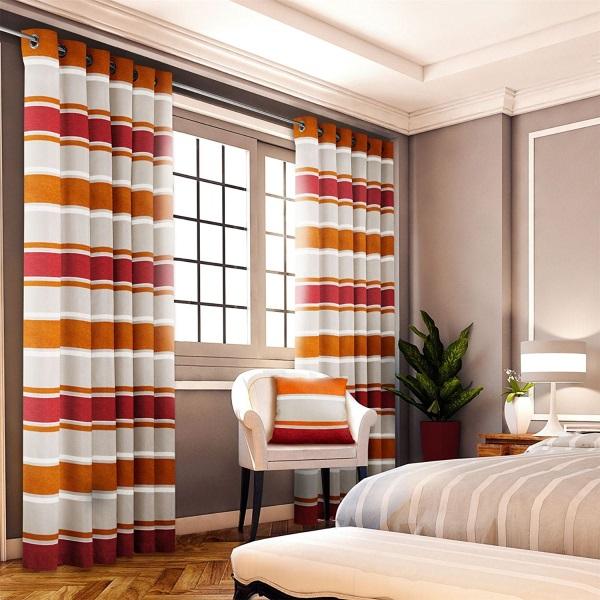 Пошив штор на люверсах - дизайн для спальни