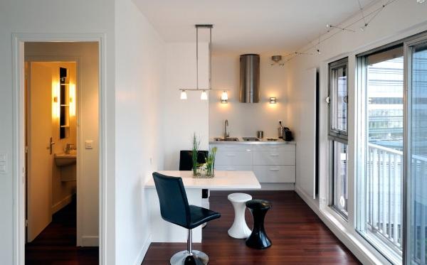 Модный дизайн однокомнатной квартиры 30 квадратов