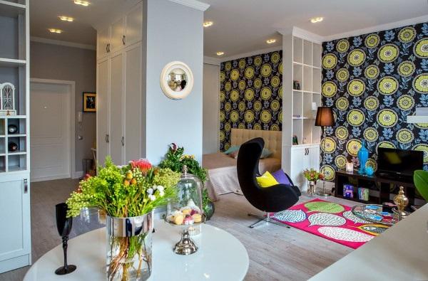 Модный дизайн однокомнатной квартиры 30 квадратов фото