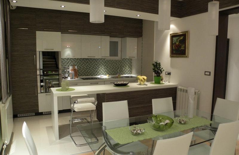 Кухня-студия в интерьере квартиры