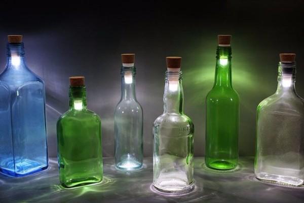 Светильники из бутылок своими руками фото