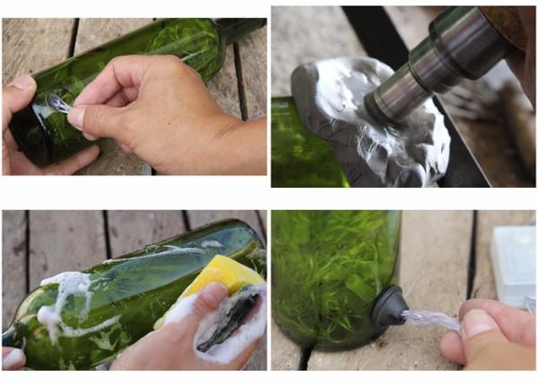 Как сделать светильник из бутылки