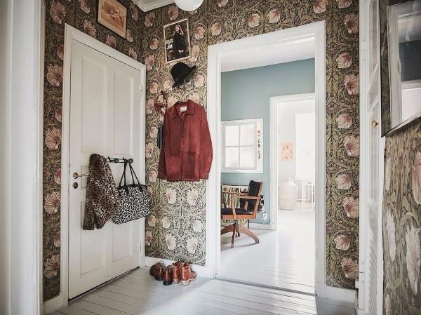 Дизайнерские обои в коридоре фото
