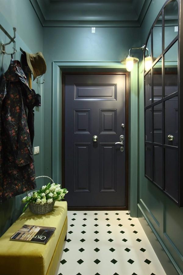 Темные обои в коридоре фото 3