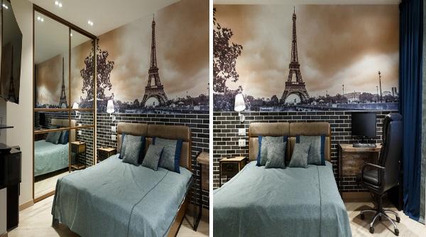 Французский дизайн однокомнатной квартиры 30 квадратов фото