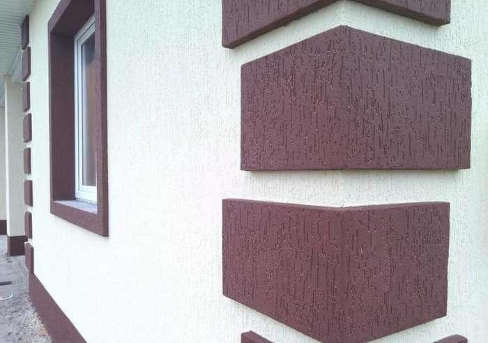 Штукатурка короед на фасадах домов, фото 10