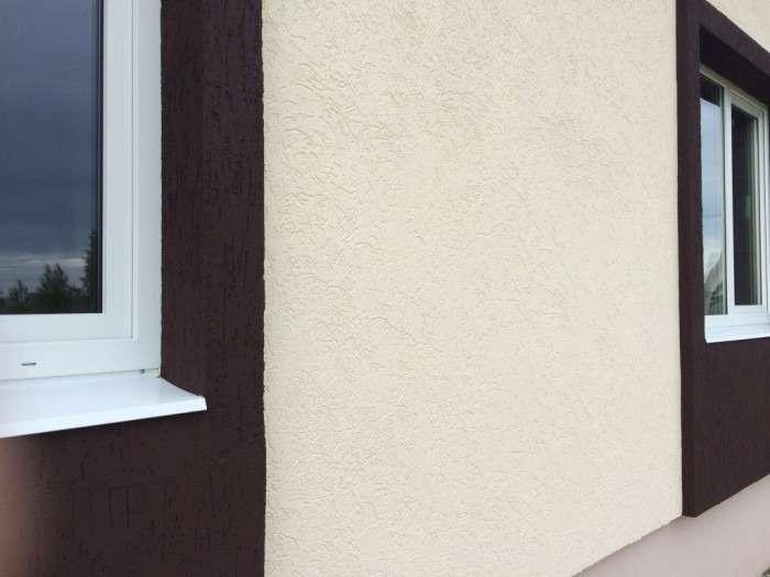 Штукатурка короед на фасадах домов, фото 11