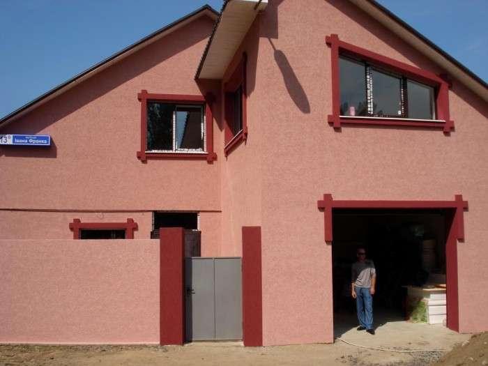 Штукатурка короед на фасадах домов, фото 12