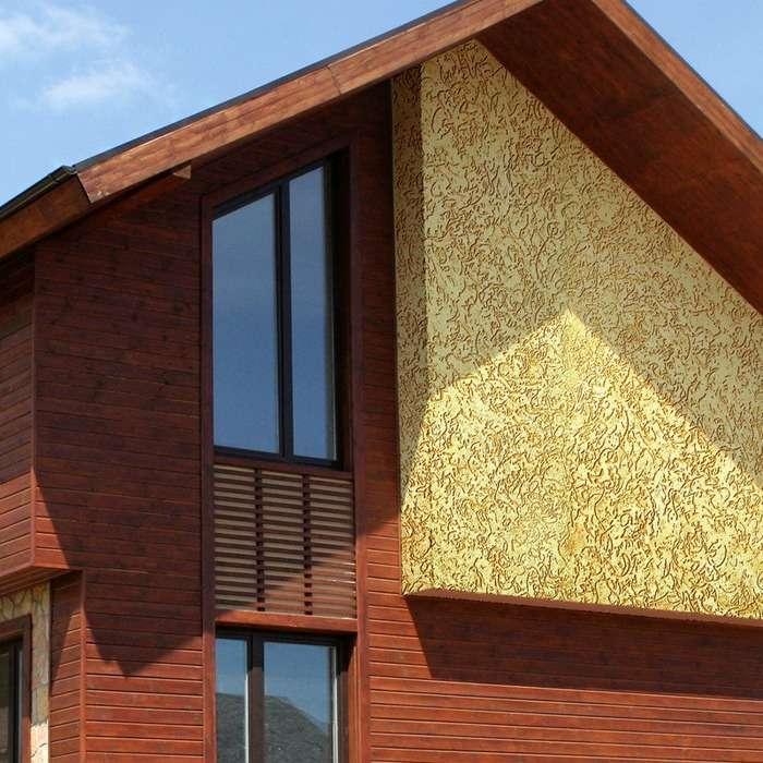 Штукатурка короед на фасадах домов, фото 6