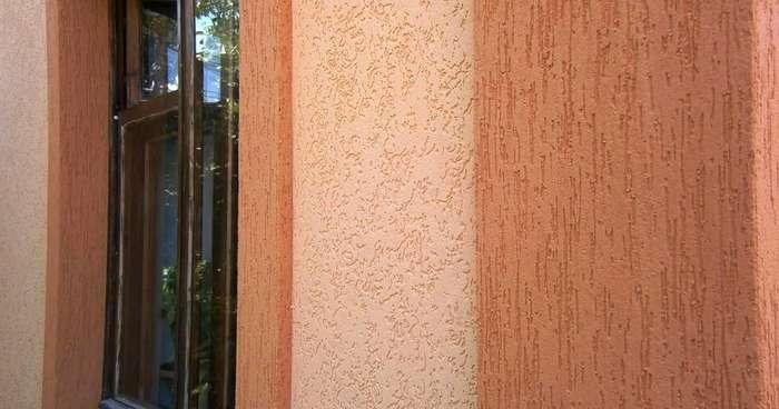 Штукатурка короед на фасадах домов, фото 7