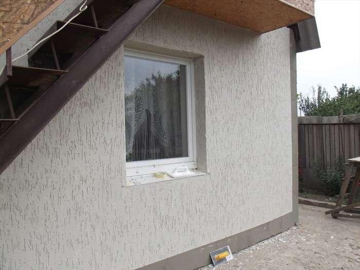 Штукатурка короед на фасадах домов, фото 9