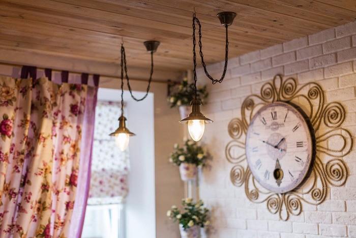 Светильники на кухню в стиле прованс