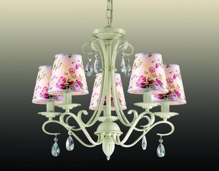 Цветные потолочные светильники в стиле прованс