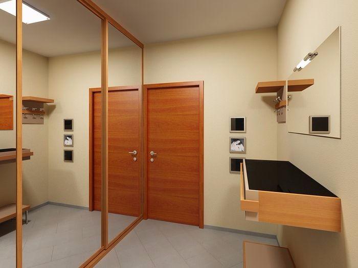 Встроенный угловой шкаф купе в прихожую фото