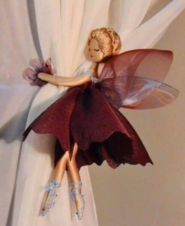 Держатель для детский штор девочка бабочка