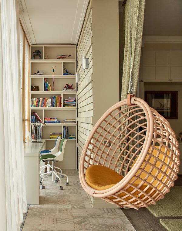 Дизайн маленького кабинета на балконе