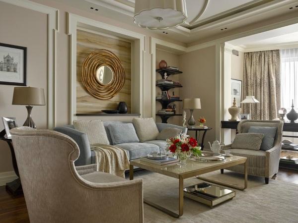 Дизайн квартир фото зала 18 кв м американская классика