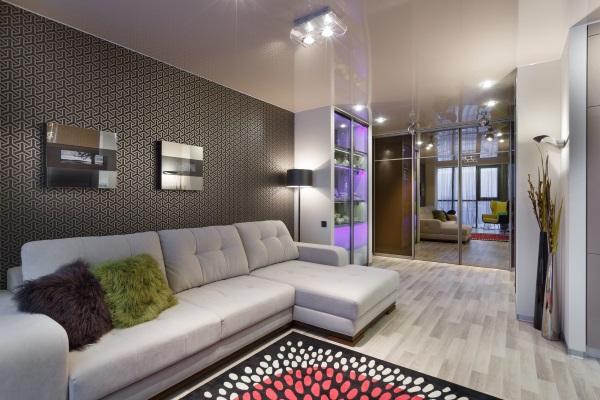 Дизайн зала 18 кв в квартире в скандинавском стиле фото 4
