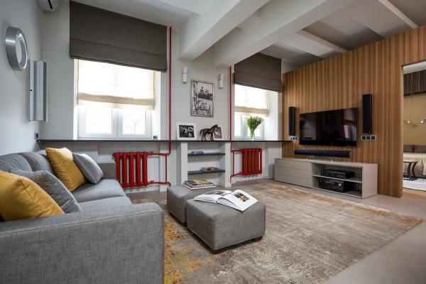 Современный дизайн зала 18 кв в квартире фото 5
