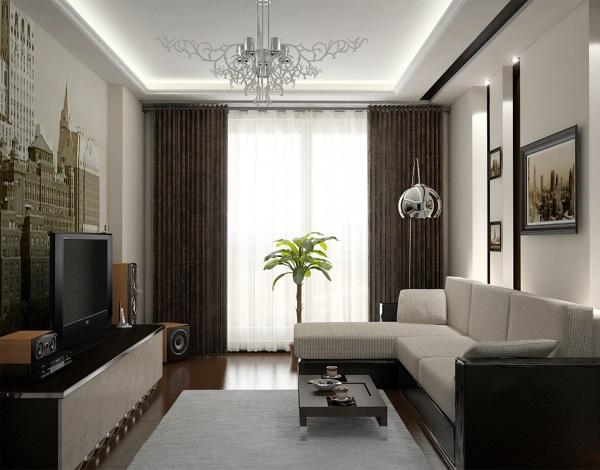 Дизайн зала 18 кв в квартире фото