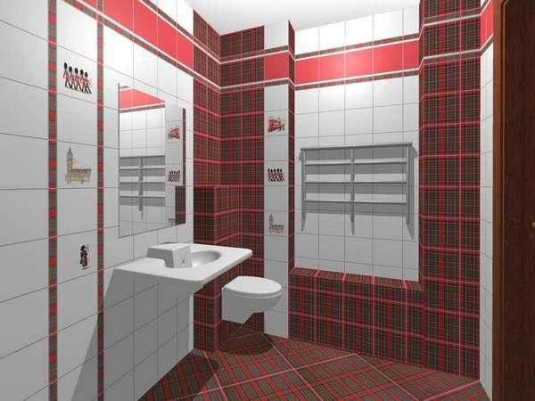 Дизайн плитки в туалете — 45 фото с красивым оформлением