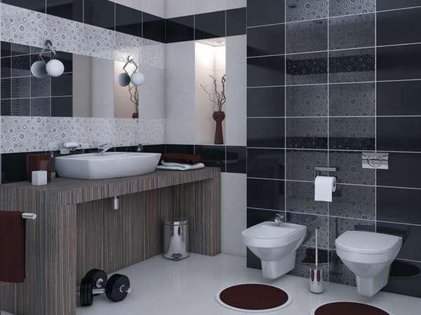 Дизайн плитки в туалете, фото 9