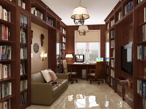 Мебель для кабинета в квартире в классическом стиле фото 5