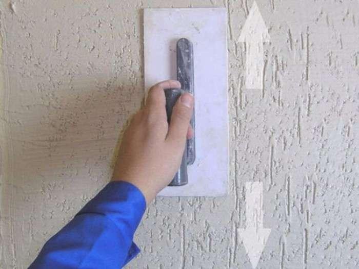 Как наносить штукатурку короед