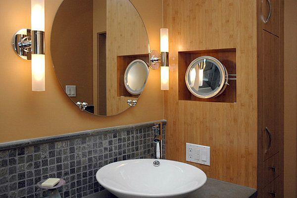 Настенные светильники в ванной комнате, фото 1