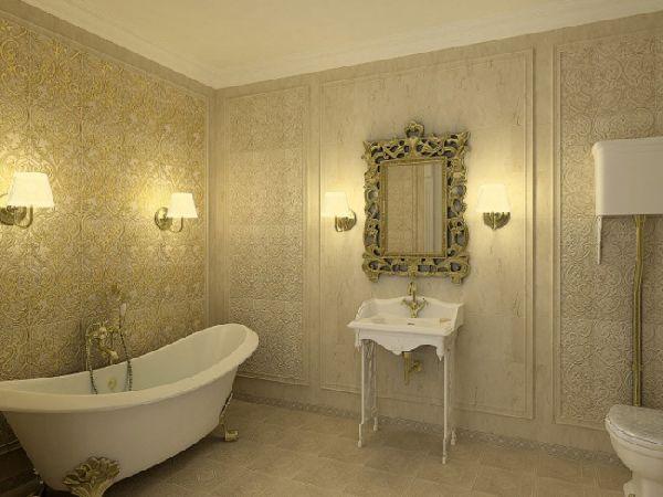Настенные светильники в ванной комнате, фото 3