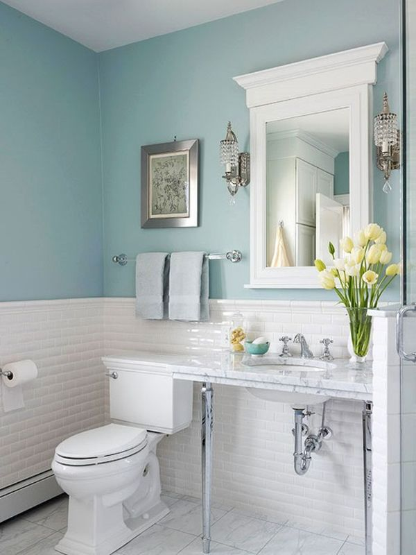 Настенные светильники в ванной комнате, фото 4