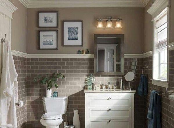 Настенные светильники в ванной комнате, фото 5