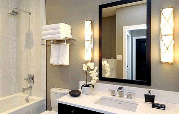 Настенные светильники в ванной комнате, фото 8