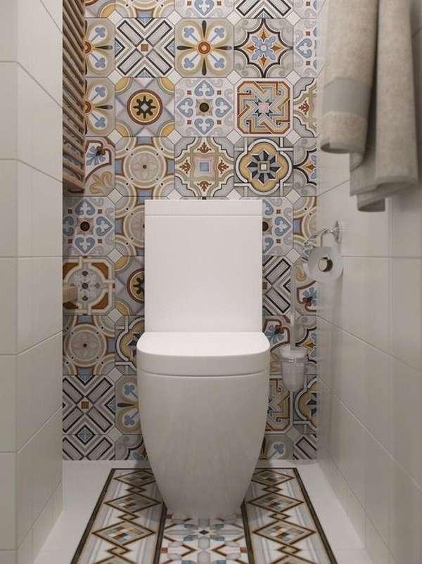 Плитка в маленький туалет дизайн фото 15