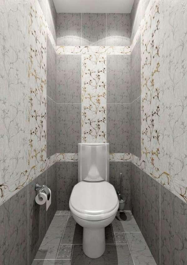 Плитка в маленький туалет дизайн фото 4