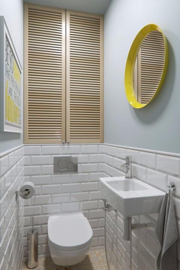 Плитка в маленький туалет дизайн фото 1