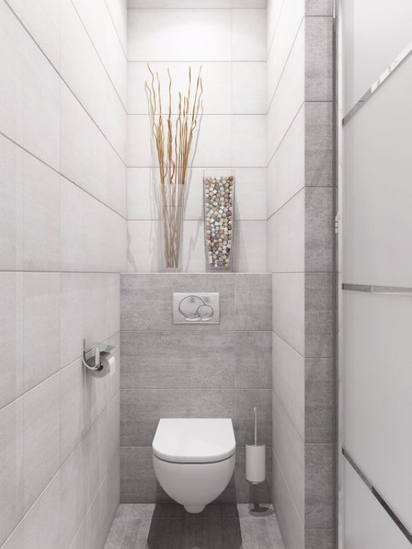 Плитка в маленький туалет дизайн фото 3