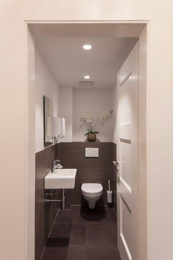 Плитка в маленький туалет дизайн фото 2