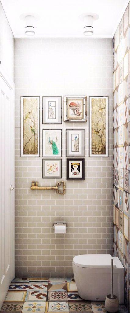 Плитка в маленький туалет дизайн фото 8