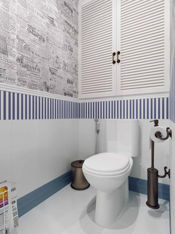 Плитка в маленький туалет дизайн фото 6