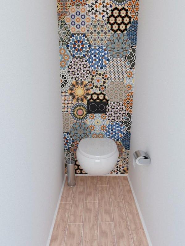 Плитка в маленький туалет дизайн фото 20