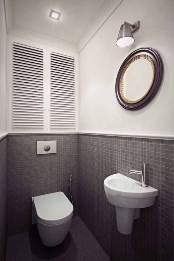 Плитка в маленький туалет дизайн фото 11