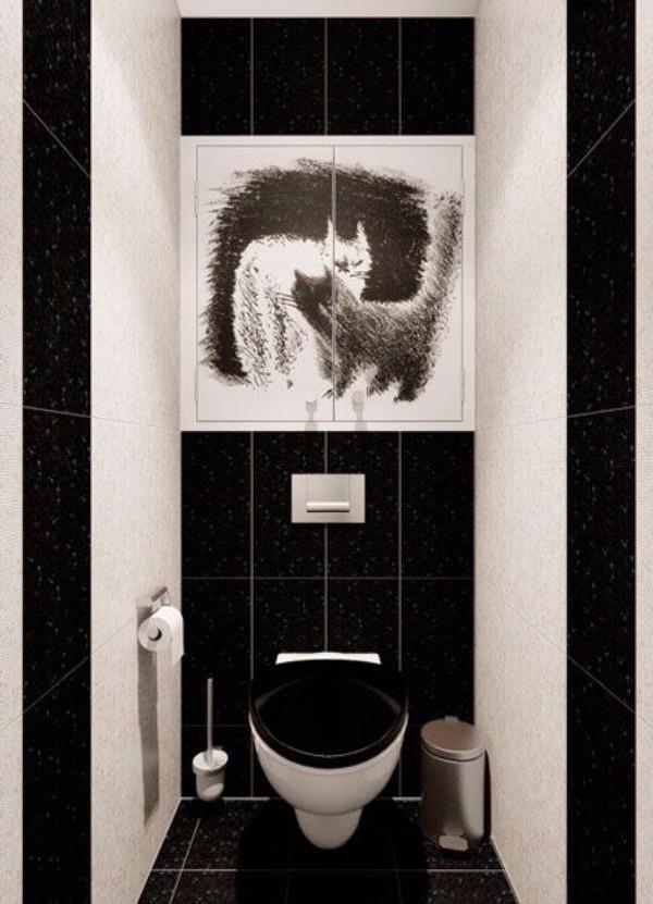 Плитка в маленький туалет дизайн фото 13