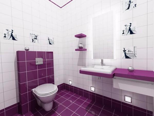 Дизайн плитки в туалете, фото 12