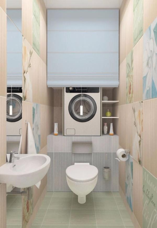 Плитка в маленький туалет дизайн фото 19
