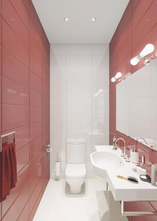 Плитка в маленький туалет дизайн фото 17