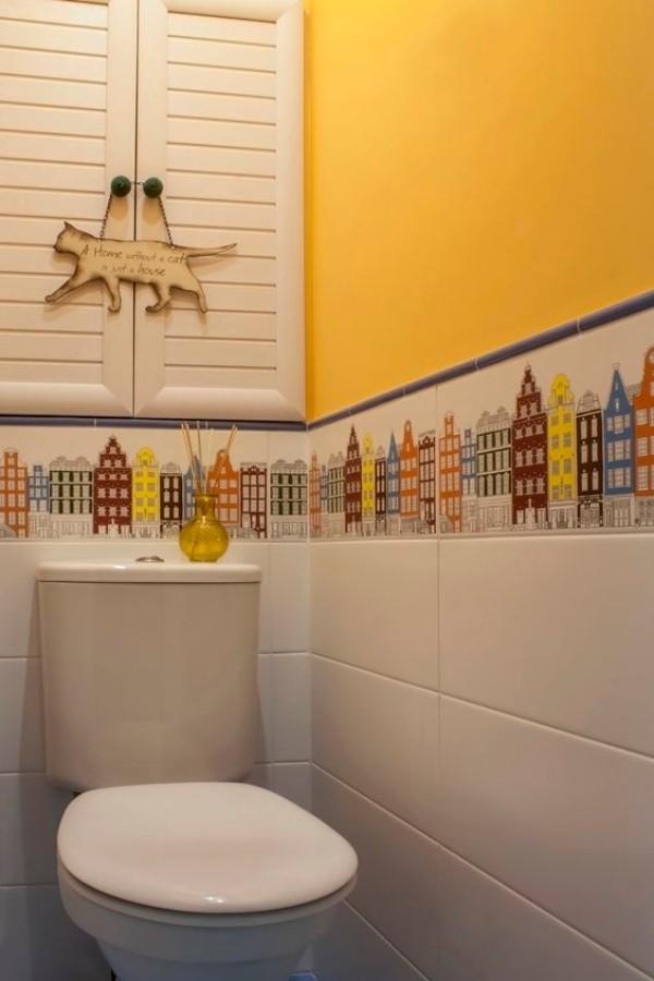 Плитка в маленький туалет дизайн фото 21