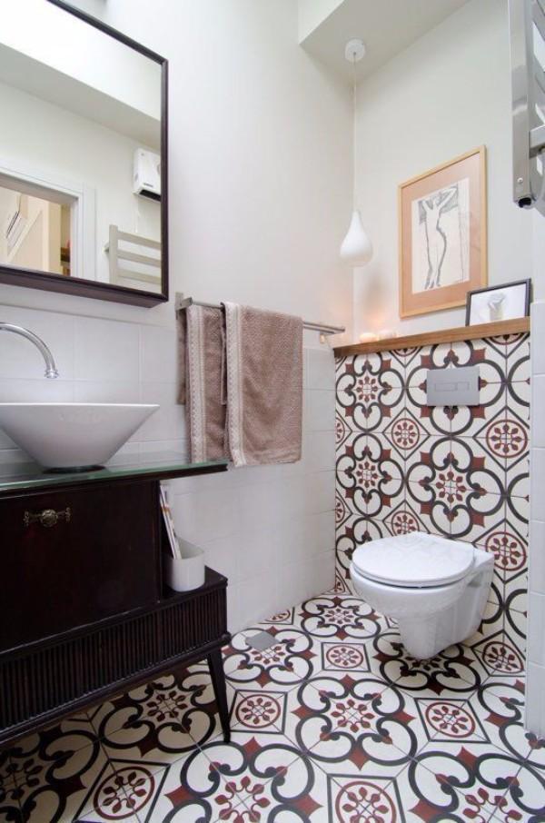 Дизайн плитки в туалете, фото 18
