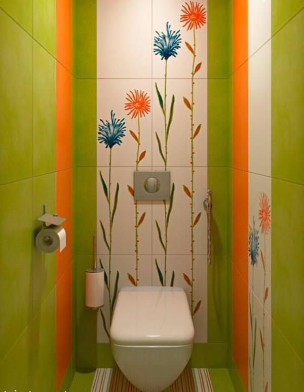 Плитка в маленький туалет дизайн фото 10